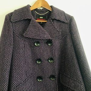 Miss Sixty Wool Blend Purple Peacoat